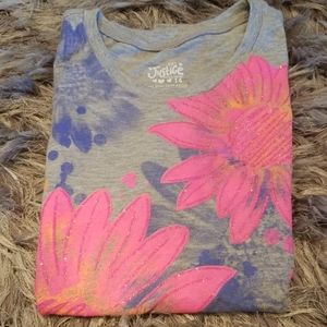 Sparkly Pink Floral T-shirt